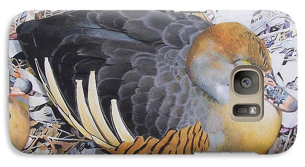 Galaxy Case featuring the mixed media Woody's Duck by Constance Drescher
