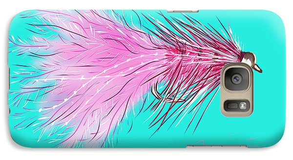 Galaxy Case featuring the painting Woolly Bugger by Jean Pacheco Ravinski