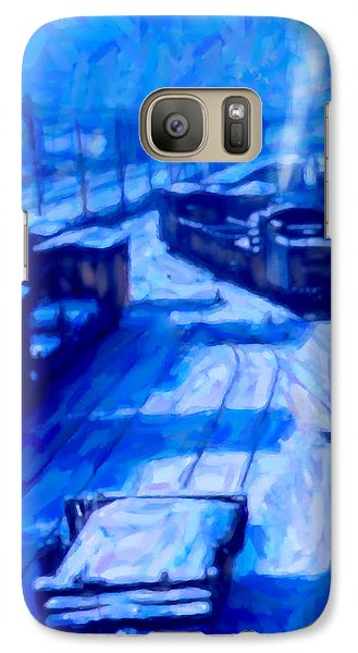 Galaxy Case featuring the digital art Working By Moonlight by Chuck Mountain