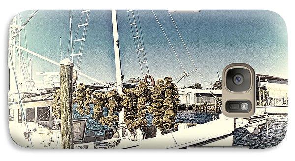 Working Sponge Boat Galaxy S7 Case by Bill Barber