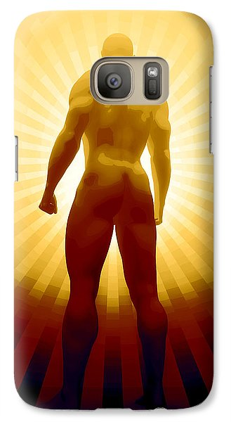 Galaxy Case featuring the digital art World Champion by Matt Lindley