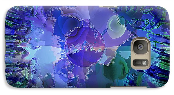 Galaxy Case featuring the digital art World In A Cell by Ursula Freer