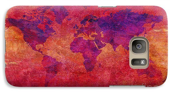 Galaxy Case featuring the digital art World Map  by Mohamed Elkhamisy
