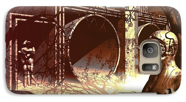 Galaxy Case featuring the digital art World Of Ruin by John Alexander