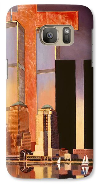 Galaxy Case featuring the painting World Trade Center Memorial by Art James West