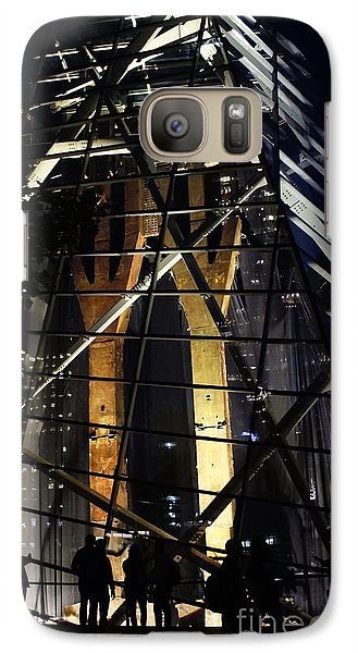 Galaxy Case featuring the photograph World Trade Center Museum At Night by Lilliana Mendez