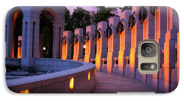 Galaxy Case featuring the photograph World War II Memorial Washington Dc by John S