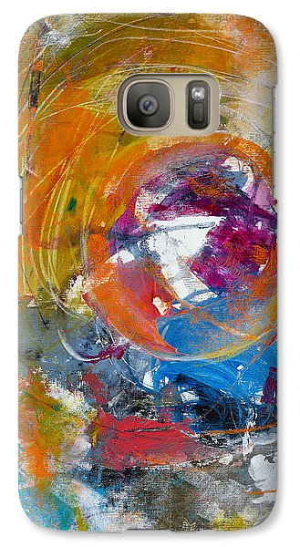 Galaxy Case featuring the painting Worldly  by Katie Black