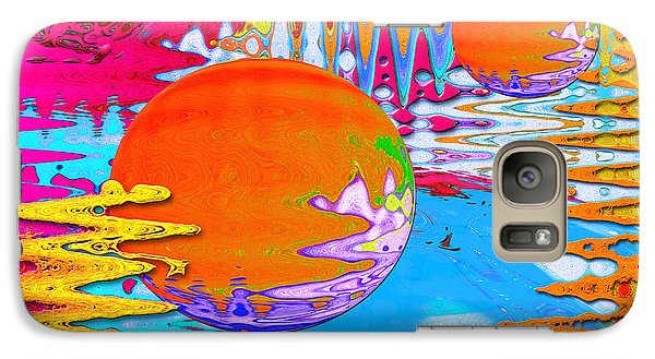 Galaxy Case featuring the mixed media Worlds Apart by Carl Hunter
