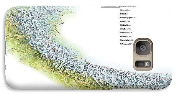 World's Ten Highest Mountains Galaxy Case by Gary Hincks