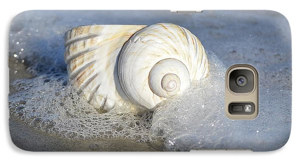 Galaxy Case featuring the photograph Worn By The Sea by Kathy Baccari