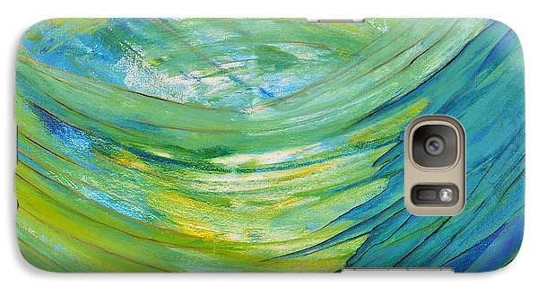 Galaxy Case featuring the painting Worship by Cassie Sears