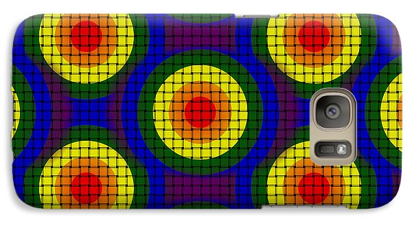 Galaxy Case featuring the digital art Woven Circles by Bartz Johnson