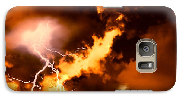 Galaxy Case featuring the painting Wrath Of Zeus by Persephone Artworks