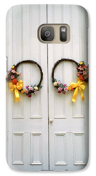 Galaxy Case featuring the photograph Wreaths by Marion Johnson