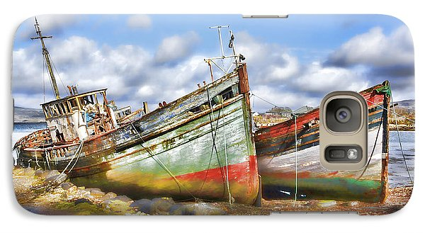 Galaxy Case featuring the photograph Wrecked Boats by Craig B