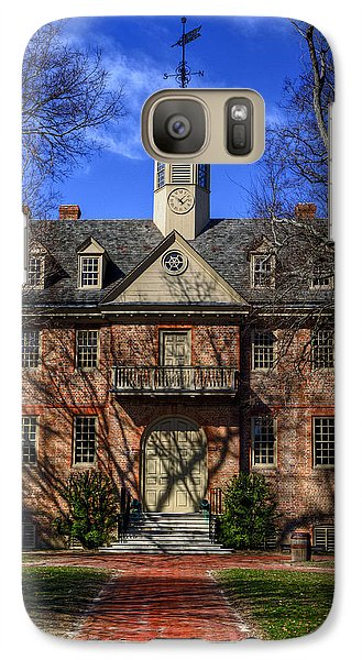 Galaxy Case featuring the photograph Wren Building Main Entrance by Jerry Gammon