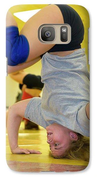 Marquette Galaxy S7 Case - Wrestler Training by Jim West