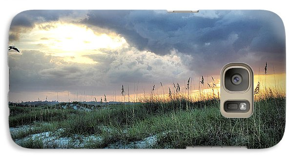 Galaxy Case featuring the photograph Wrightsville Beach South End Sunset by Phil Mancuso