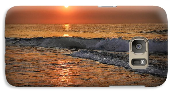 Galaxy Case featuring the photograph Wrightsville  Beach Sunrise by Phil Mancuso
