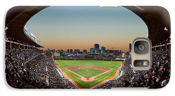 Wrigley Field Galaxy S7 Case - Wrigley Field Night Game Chicago by Steve Gadomski