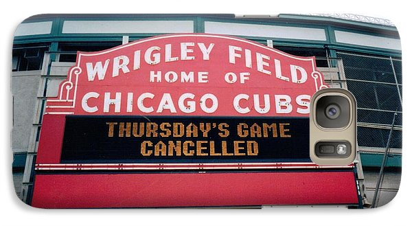 Galaxy Case featuring the photograph Wrigley Field Weeps For America by Sheri Keith