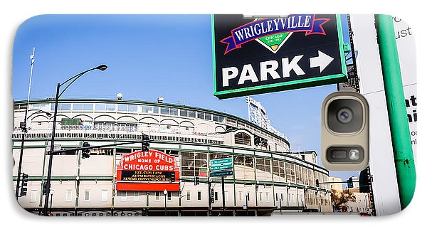 Wrigleyville Sign And Wrigley Field In Chicago Galaxy Case by Paul Velgos