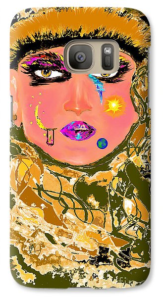Galaxy Case featuring the drawing Written by Lori  Lovetere