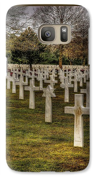 Galaxy Case featuring the photograph Ww II War Memorial Cemetery by Elf Evans