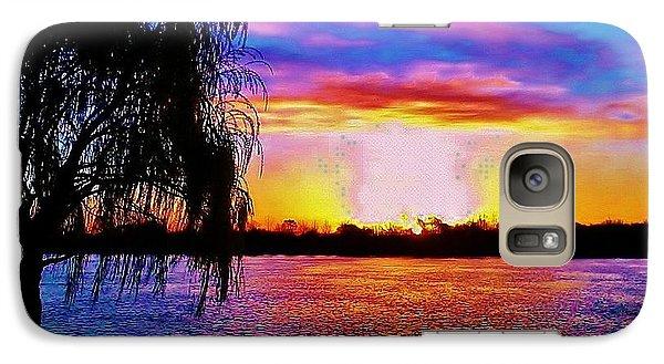 Galaxy Case featuring the photograph Wyandotte Mi Sunrise by Daniel Thompson