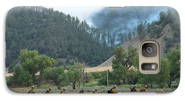 Galaxy Case featuring the photograph Wyoming Hot Shots Walk To Their Assignment by Bill Gabbert