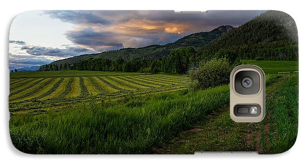 Pasture Galaxy S7 Case - Wyoming Pastures by Chad Dutson