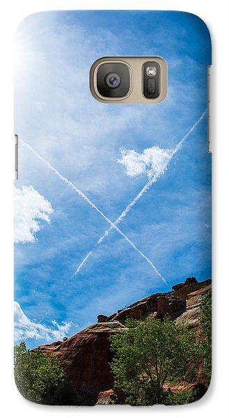 Galaxy Case featuring the photograph X Marks by Rhys Arithson