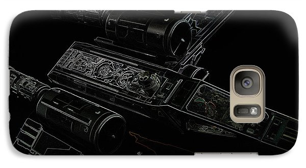 Galaxy Case featuring the digital art X Wing Fighter Color by Chris Thomas