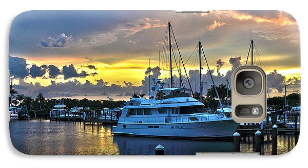 Galaxy Case featuring the photograph Yacht At Cape Coral Florida Marina And Resort 2 by Timothy Lowry