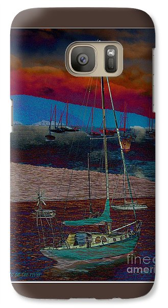 Galaxy Case featuring the photograph Yachts On The River by Leanne Seymour