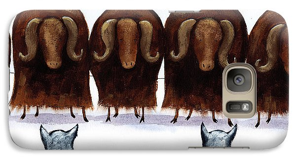 Yak Line Galaxy Case by Christy Beckwith