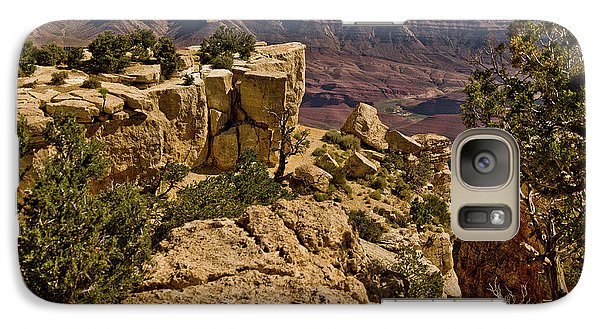 Galaxy Case featuring the photograph Yaki Point 3 The Grand Canyon by Bob and Nadine Johnston