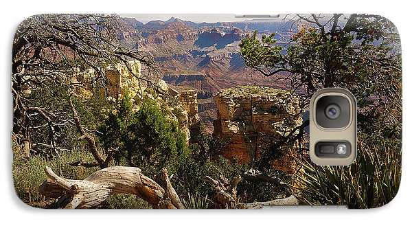 Galaxy Case featuring the photograph Yaki Point 4 The Grand Canyon by Bob and Nadine Johnston