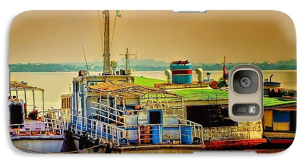 Galaxy Case featuring the photograph Yangon Harbour by Wallaroo Images