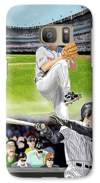 Galaxy Case featuring the digital art Yankees Vs Indians by Thomas J Herring