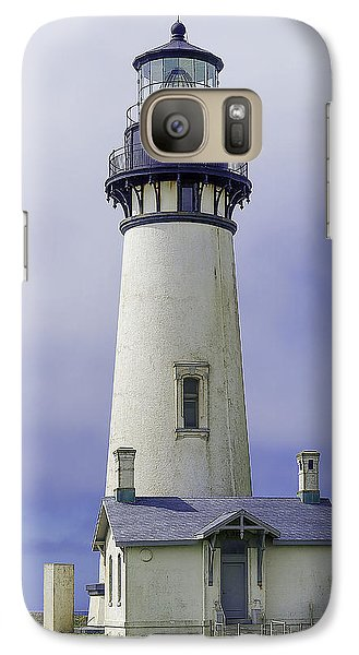 Galaxy Case featuring the photograph Yaquina Head Lighthouse by Dennis Bucklin