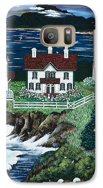 Galaxy Case featuring the painting Yaquina Lighthouse by Jennifer Lake
