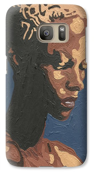 Galaxy Case featuring the painting Yasmin Warsame by Rachel Natalie Rawlins