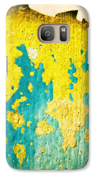 Galaxy S7 Case featuring the photograph Yellow And Green Abstract Wall by Silvia Ganora