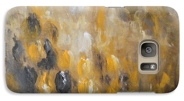 Galaxy Case featuring the painting Yellow And Purple by Jane  See