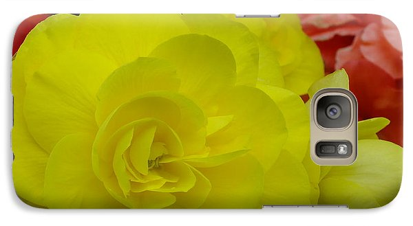 Galaxy Case featuring the photograph Yellow Begonia by Gene Cyr