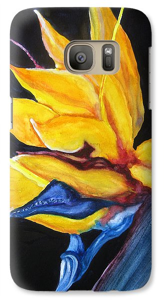Galaxy Case featuring the painting Yellow Bird by Lil Taylor