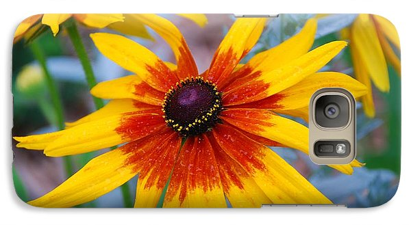 Galaxy Case featuring the photograph Yellow Burst by Allen Beatty