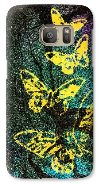 Galaxy Case featuring the digital art Yellow Butterflies by Christine Perry